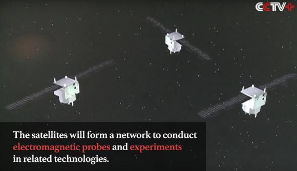 Posible aspecto de los satélites Yaogan 30-02 (CCTV).