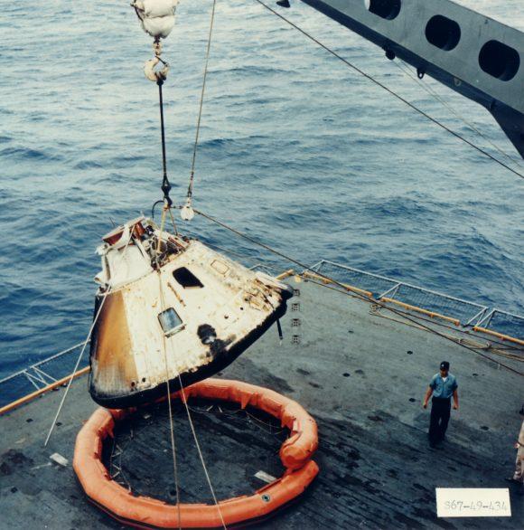 El chamuscado CM del Apolo 4 (NASA).