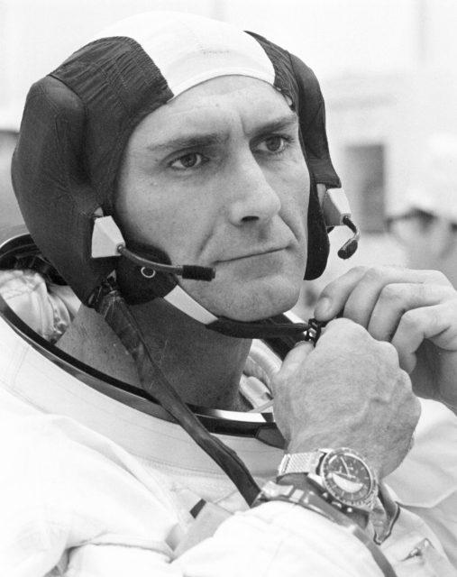 Gordon se prepara para la misión Apolo 12 (NASA).