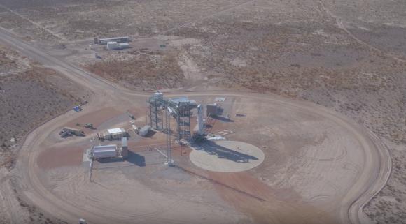 Instalaciones de lanzamiento del New Shepard en Texas (Blue Origin).