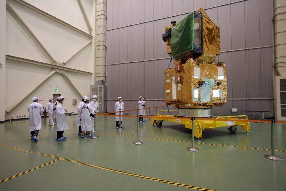 Shikisai antes del lanzamiento (JAXA).