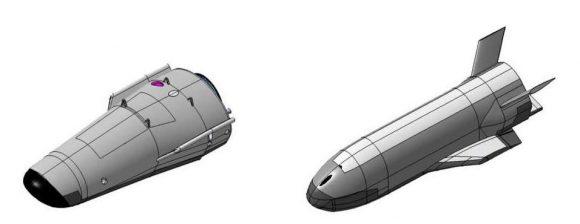 Italia había estudiado previamente varios diseños para el Space Rider. Finalmente se ha escogido el más sencillo (ESA).