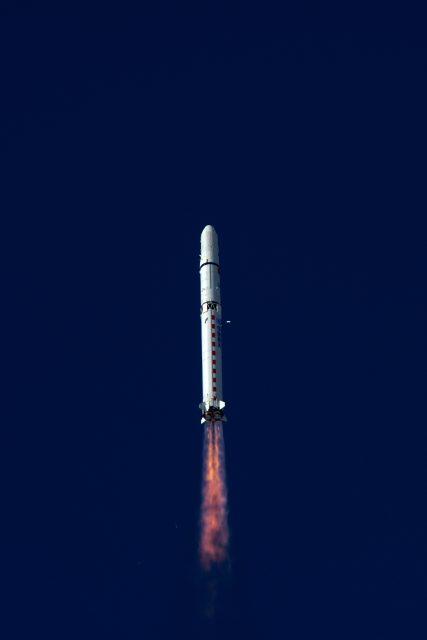 Otra vista del lanzamiento de los Gaojing 1-03 y 1-04 (Xinhua).
