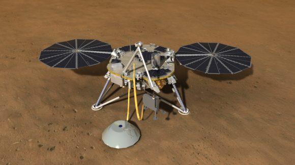 La sonda InSight de la NASA será lanzada y aterrizará en Marte en 2018 (NASA).