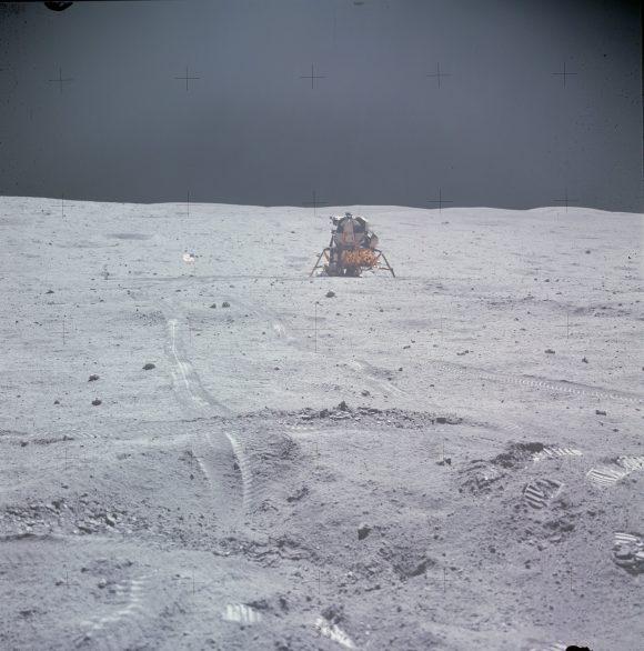 El módulo lunar Orion del Apolo 16 (NASA).
