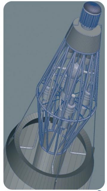 Un reactor de fisión para su uso en el espacio (CNES).