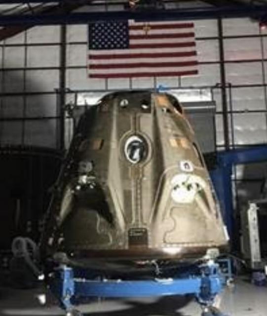 Cápsula Dragon 2 en construcción (NASA).