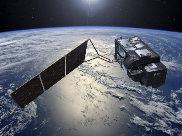 Satélite europeo de observación de la Tierra Sentinel 3 (ESA).