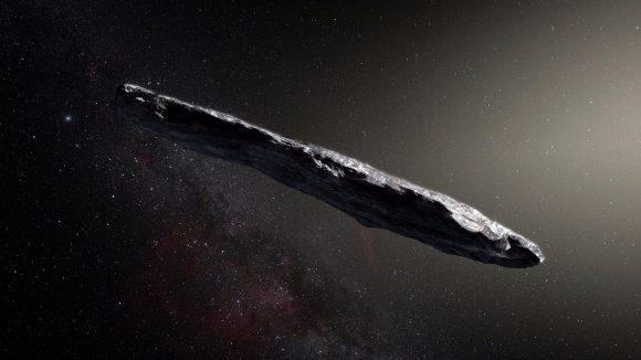 Representación artística de 'Oumuamua (ESO).