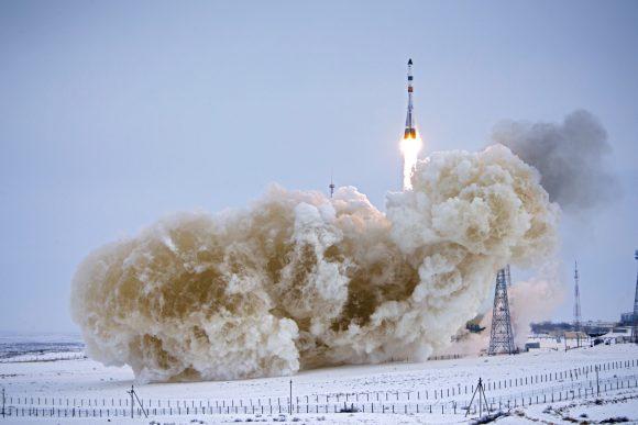 Lanzamiento de la Progress MS-08 (Roscosmos).