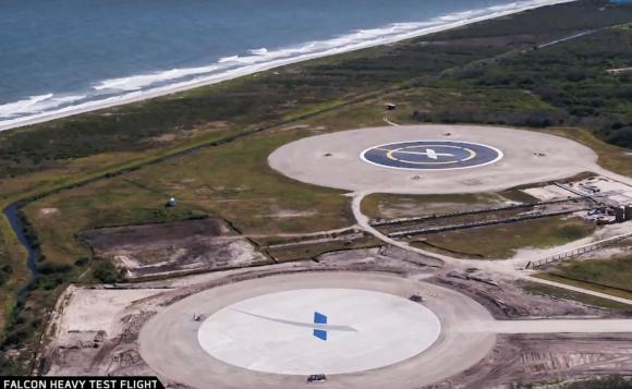 Zonas de aterrizaje LZ-1 y LZ-2 (SpaceX).