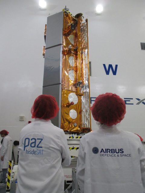 PAZ antes del lanzamiento (Airbus).