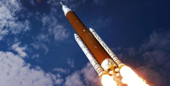 Cohete SLS de la NASA (NASA).