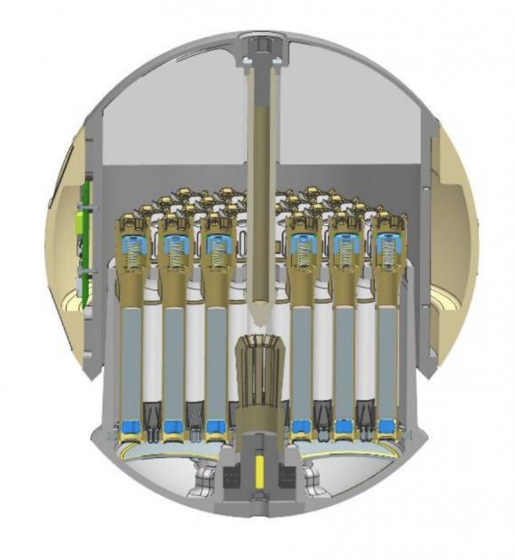 Detalle del interior de la cápsula (NASA).