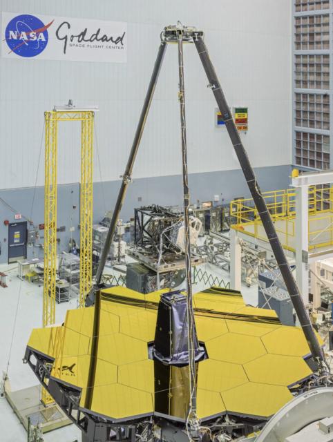 Óptica principal del James Webb (NASA).