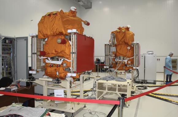 Satélites Kanopus V-3 y V-4 (Roscosmos).
