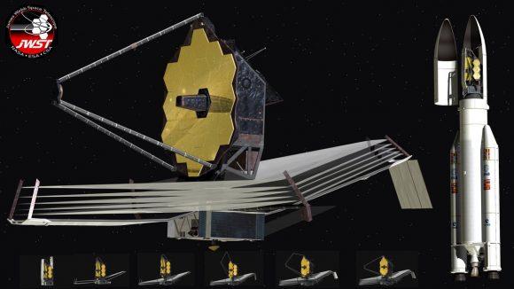 Secuencia de despliegue del JWST (NASA).
