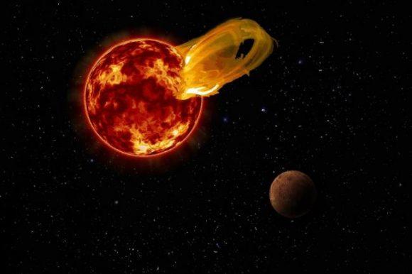 El 24 de marzo de 2017 Proxima tuvo un mal día (Roberto Molar Candanosa / Carnegie Institution for Science, NASA/SDO, NASA/JPL.).