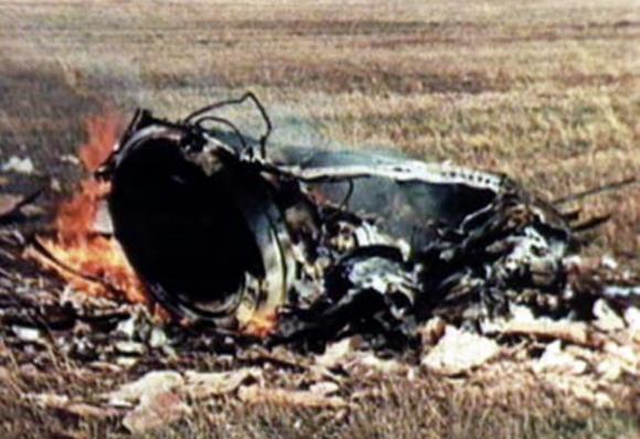 Los restos de la Soyuz 1.