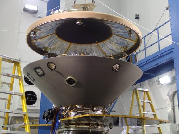 Escudo térmico (heat shield/backshell) de InSight (NASA).