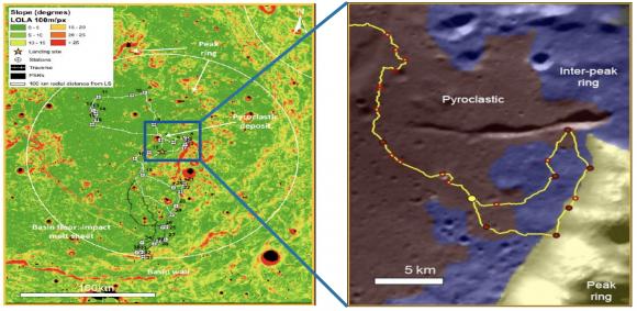 El cráter Schrödinger podría ser el lugar elegido para el aterrizaje (ESA).