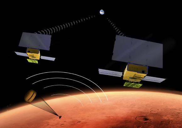 Los cubesats MarCO (NASA).
