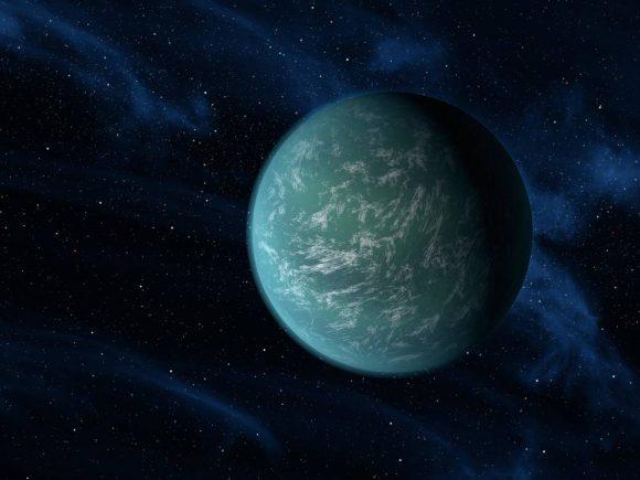 Recreación artística de una supertierra (NASA/Ames/JPL-Caltech).