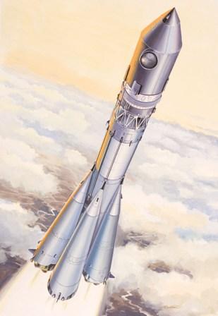 Cohete Vostok 8K72.