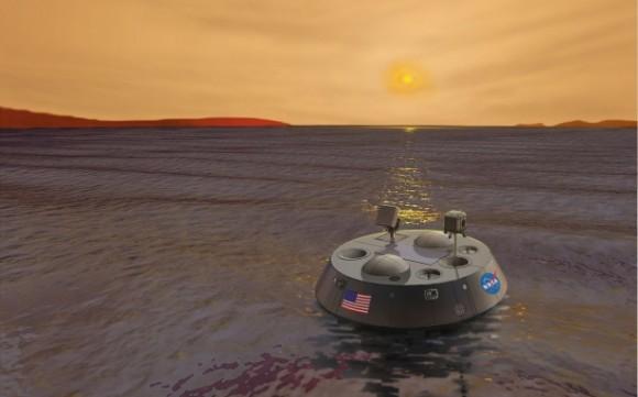 Propuesta de sonda TiME para estudiar los mares de Titán. Debía haber empleado ASRG (NASA).
