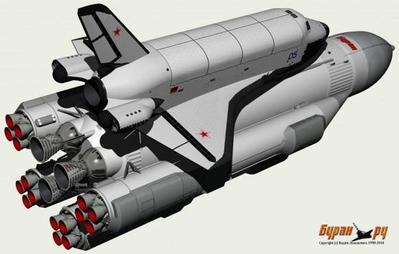 OK-92, otro diseño preliminar del Burán (www.buran.ru).