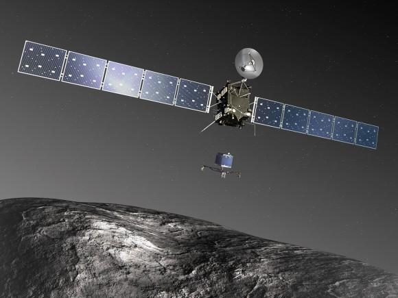 Philae_landing_on_comet
