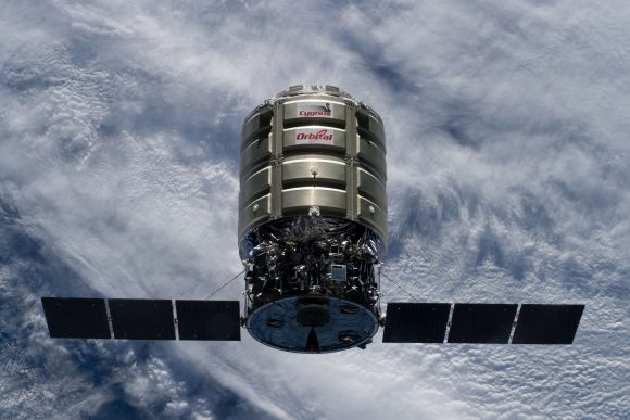 CRS_Orb-2_Cygnus_3_S.S._Janice_Voss_approaches_ISS_(ISS040-E-069311)