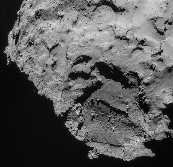 Sitio J donde debe aterrizar Philae (ESA/Rosetta).