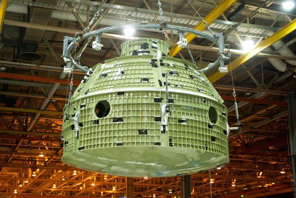 Fuselaje presurizado del CM EFT-1 (NASA).