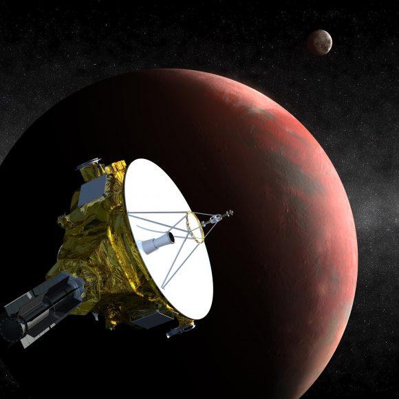 La New Horizons pasa por Plutón y sus lunas (NASA).