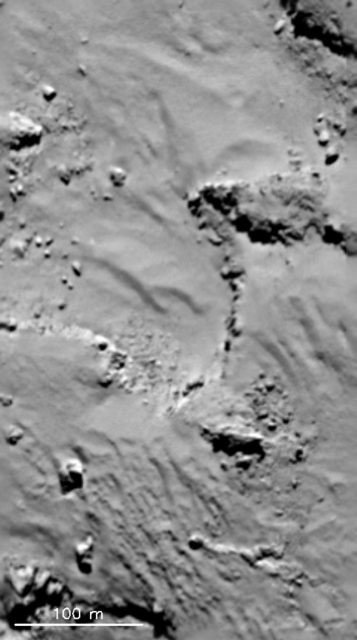 'Dunas' en la región de Hapi (ESA/OSIRIS).