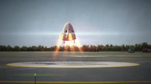 Así no aterrizará la Dragon V2 (SpaceX).