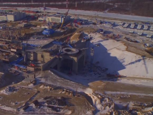 Vista de las obras desde el aire el pasado diciembre (Roscosmos).