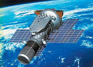 Satélite espía Araks. Debía haber servido como base del telescopio Lomonósov (NPO Lávochkin).