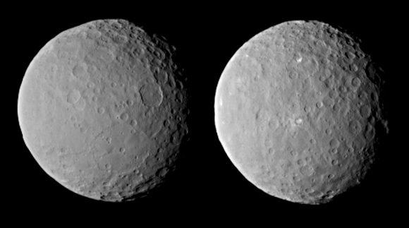 Imágenes de Ceres tomadas el 12 de febrero a 83 000 kilómetros)