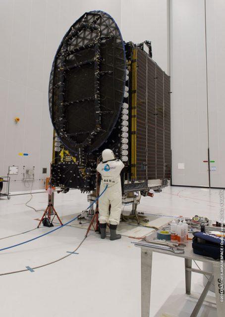 Carga de combustible del Thor 7 (Arianespace).