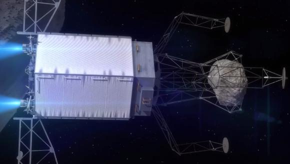 La sonda con la roca (NASA).