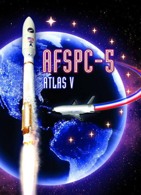 Cartel de la misión AFSPC-5 (ULA).