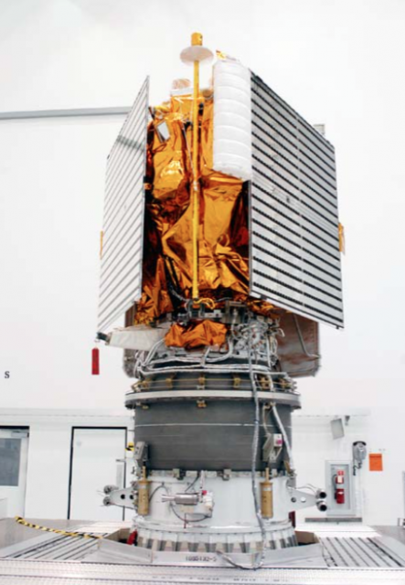 La sonda antes del lanzamiento (NASA).