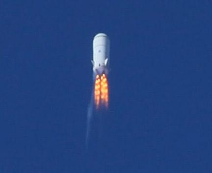 Vuelo del prototipo Goddard de la New Shepard en 2006 (Blue Origin).