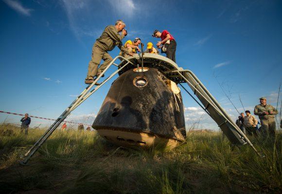 Preparados para sacar a la tripulación (NASA).