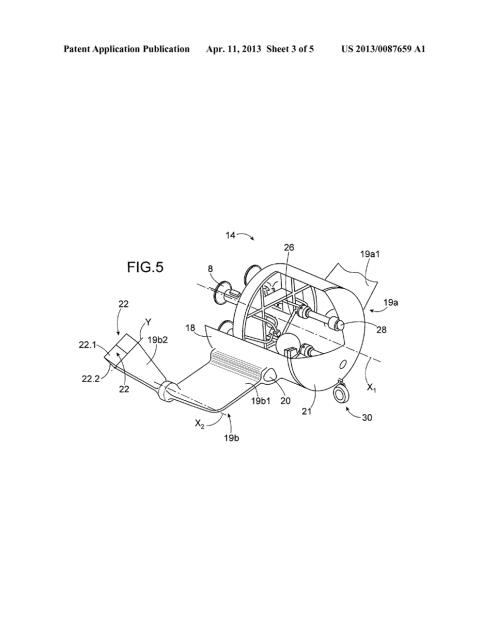 Detalles de la patente de Aadeline donde se observa la cápsula recuperable con los motores (Airbus).