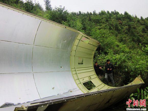 Cofia de un cohete CZ-3B/E que puso en órbita el satélite Chinasat 11 en 2013 (Xinhua).