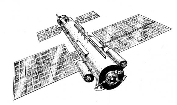 Fábrica orbital SPM basada en la estación militar Skif (KB Salyut).