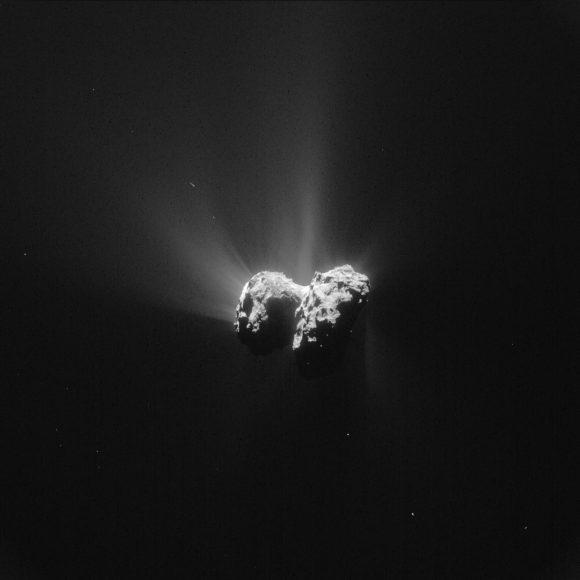Imagen del cometa 67P del 15 de junio visto por la cámara NavCam de Rosetta (ESA/Rosetta/NAVCAM).
